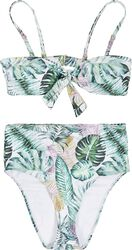 Ladies High Waist Leaf Pattern Bikini