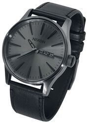 Sentry Leather - Gunmetal / Black