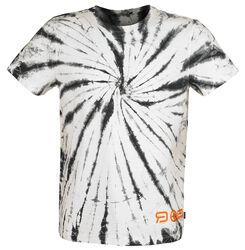 RED X CHIEMSEE - weiß/schwarzes Batik T-Shirt