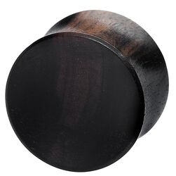 Concave Ebony Wood Plug