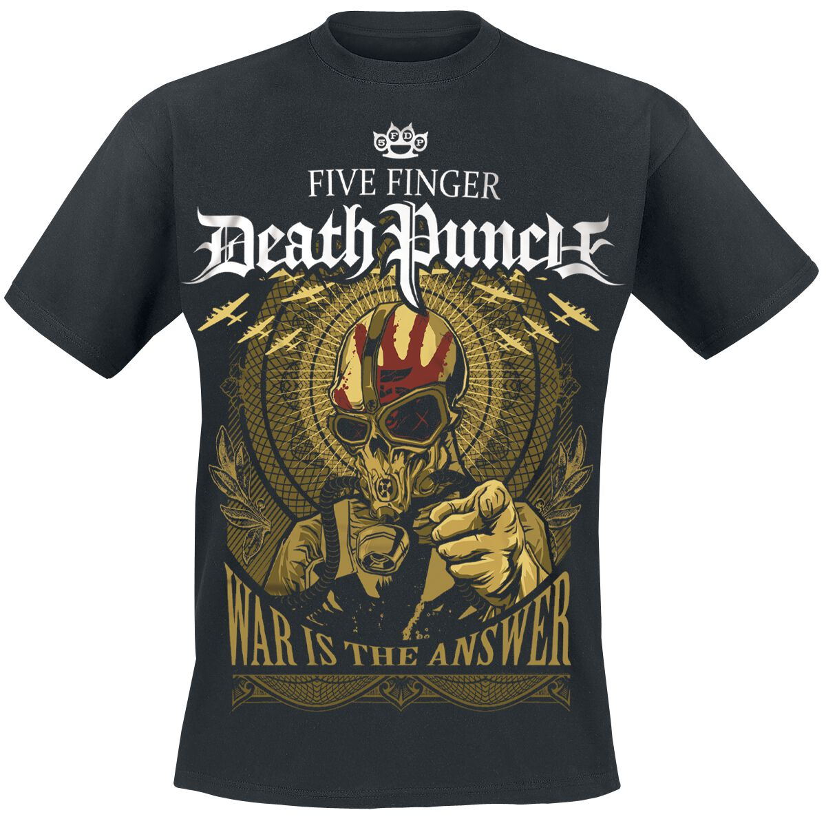 war is the answer five finger death punch t shirt emp. Black Bedroom Furniture Sets. Home Design Ideas