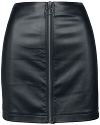 Ladies Faux Leather Zip Skirt