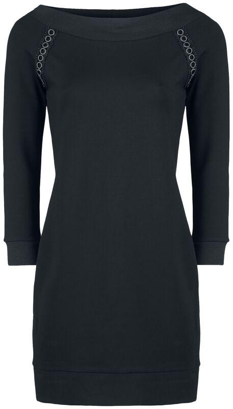 Black Open-Shoulder Dress