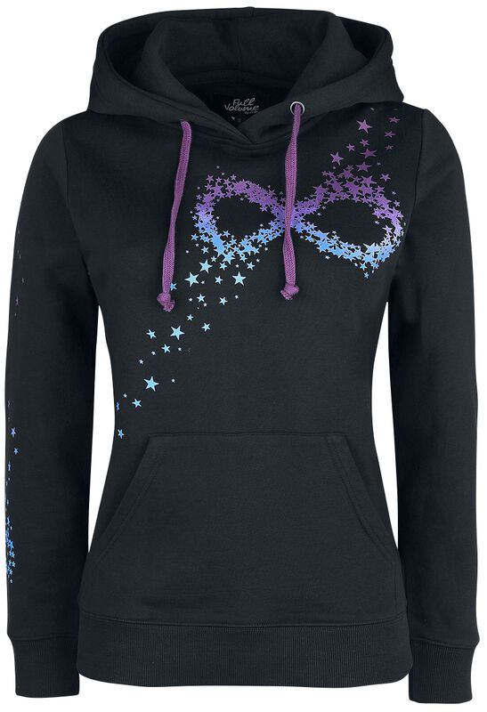 Black Hoodie with Infinity Symbol Made From Stars