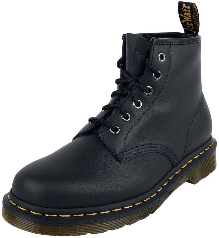 101 Black Nappa 6 Eye Boot