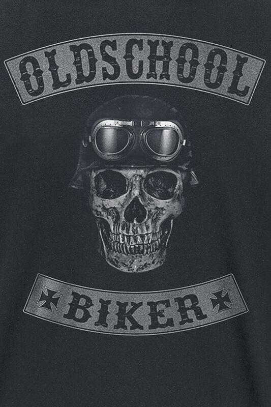 Oldschool Biker Skull T Shirt Emp