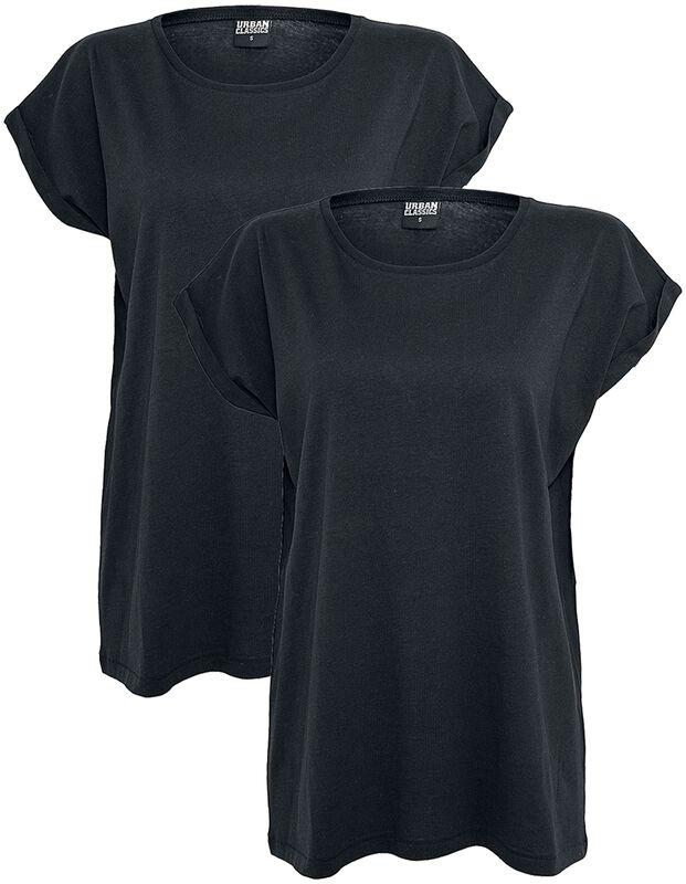 Ladies Extended Shoulder Tee 2 Pack