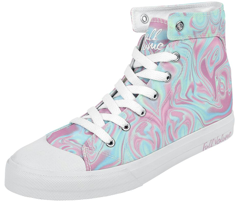 Pastel-Coloured Sneakers with Abstract Pattern