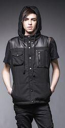 Warm Vest With Hood