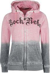 Hooded jacket with rhinestone details