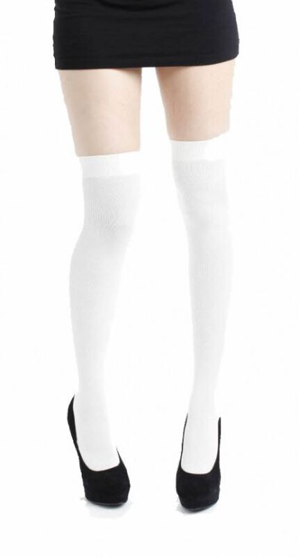 White Over The Knee Socks