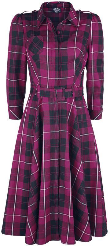 Evie Purple Tartan Swing Dress