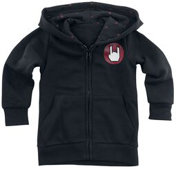 Black Hooded Jacket with Logo