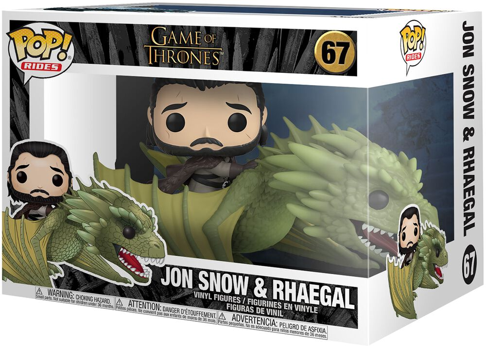 Jon Snow and Rhaegal (Pop Rides) Vinyl Figure 67