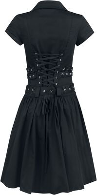 Black Emo Punk Long Dress