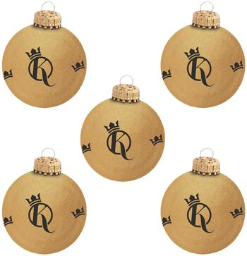 Set of 5 Xmas Baubles