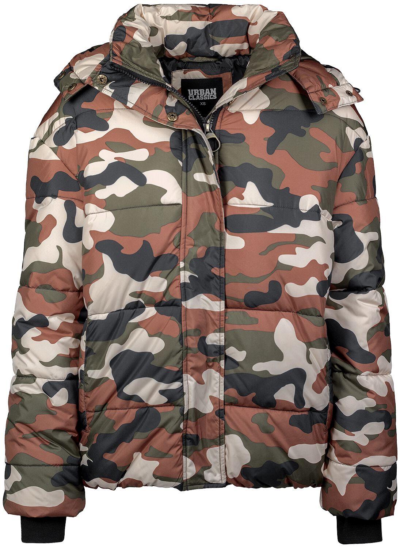 Ladies Boyfriend Camo Puffer Jacket  e523fc715cf