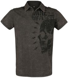 T-shirt with Collar and Print