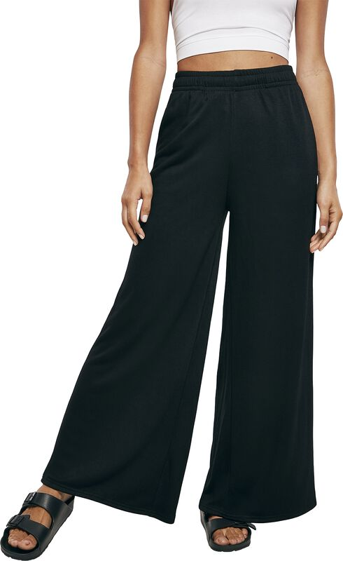 Ladies Modal Terry Wide Leg Tracksuit Trousers