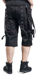 Black Shorts with Red Stitching