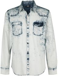 Blue Denim Shirt with Wash and Chest Pockets