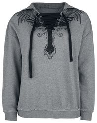 Hoodie with Lacing and Prints