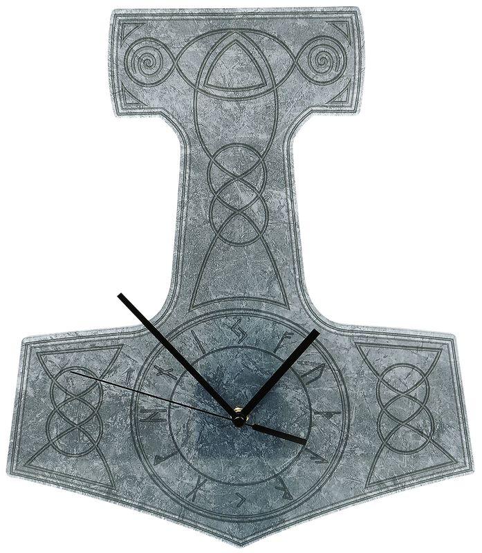 Acrylic Wall Clock  Thor's Hammer