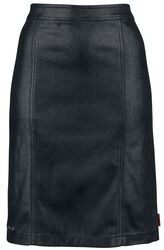 Leather-Look Skirt with Zip