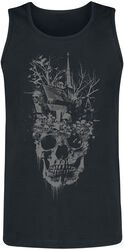 Black Top wit Dark Front Print