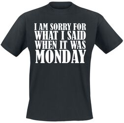 I Am Sorry For What I Said When It Was Monday