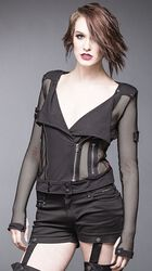 Mesh Jacket with Large Collar