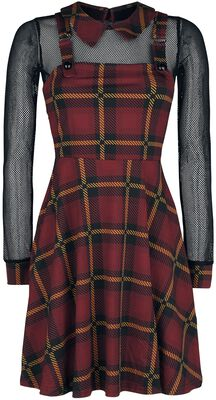 Passionate By Nature Plaid Overall Dress