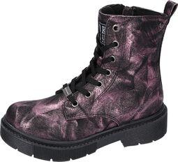 Pink Metallic Boots