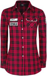 Checked shirt with patches