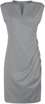 Houndstooth-Print Dress
