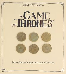 A Song of Ice and Fire A Game of Thrones - Half-Pennies of 6 Houses