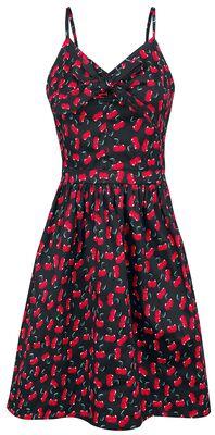 Polly Cherry Print Bow Dress