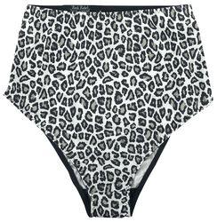 Brown/Black High-Waist Slip with Leopard-Style Print