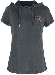 Black T-shirt with Hood