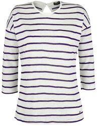 Ladies 3/4 Sleeve Striped Shirt