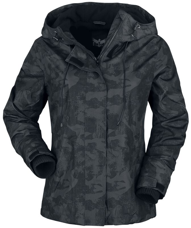 Black Camo Jacket with Soft Inner Lining