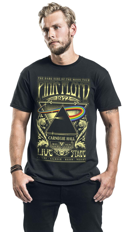 Pink Floyd Dark Side of The Moon Live On Stage 1972 Camiseta Negro