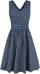 May V-neck 50's Style Spot Dress