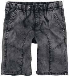 Grey Shorts with Lacing and Elasticated Waistband