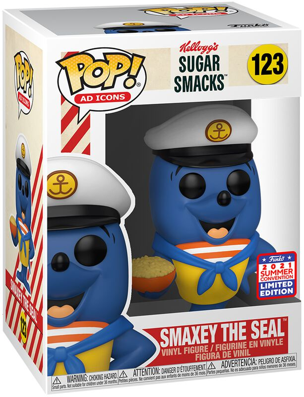 Ad Icons - SDCC 2021 - Kellogg's Sugar Smacks - Smaxey The Seal (Funko Shop Europe) Vinyl Figure 123