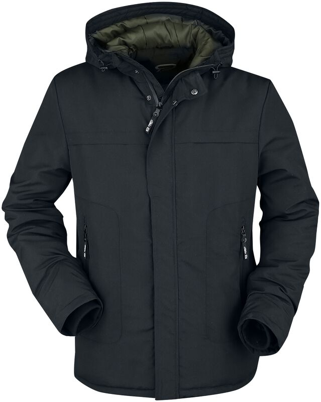 Between-seasons jacket with coloured hood lining