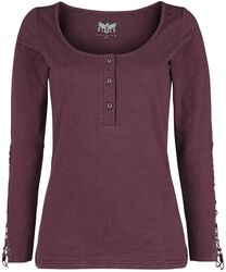 Burgundy-Red Longsleeve with Button Placket
