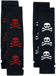 2-Pack Skull Arm Warmers