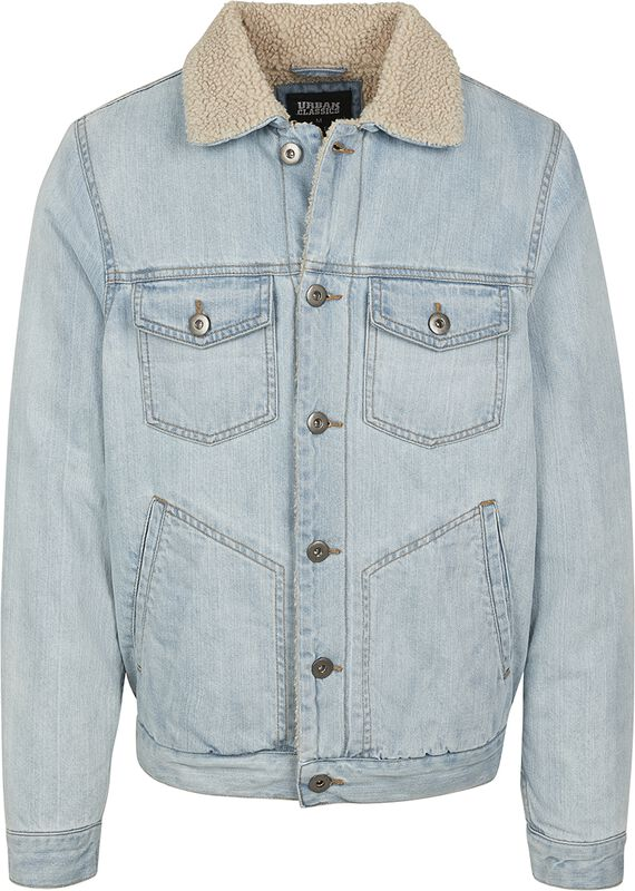Sherpa Lined Jeans Jacket