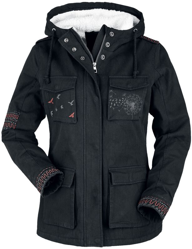 Winter Jacket with Prints and Embroidery
